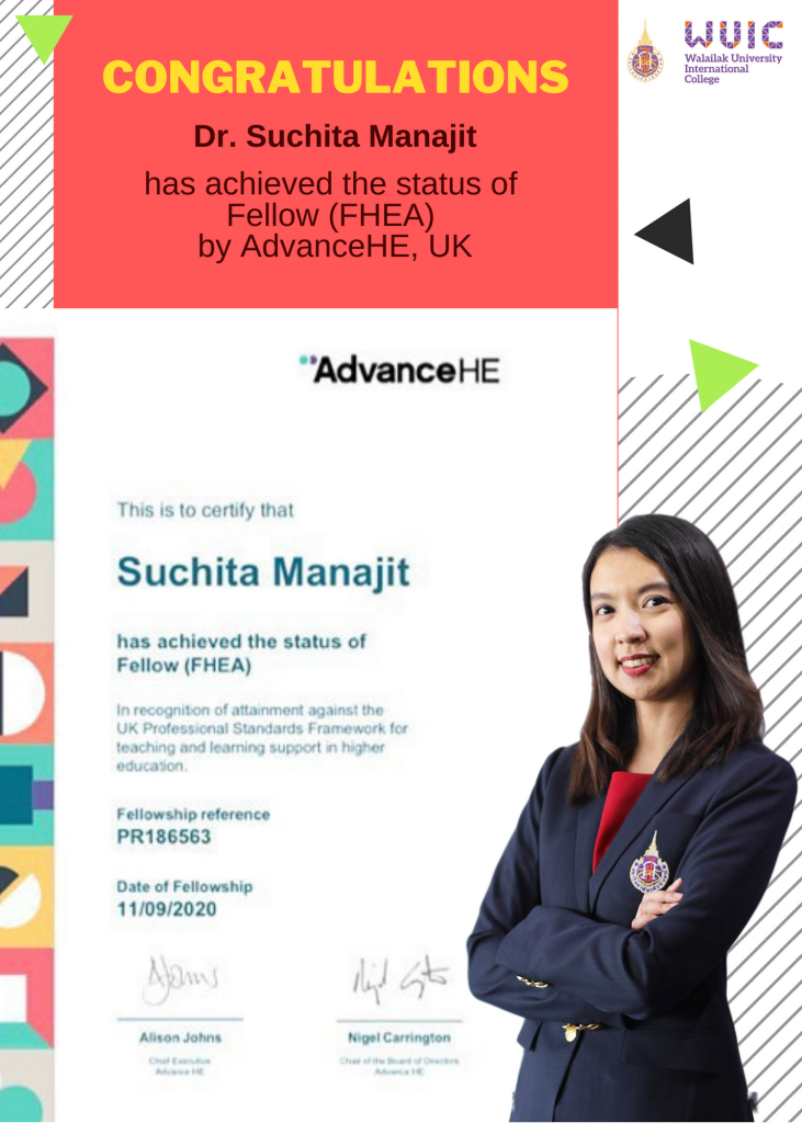Congratulations to Dr. Suchita Manajit for achieving Fellow, UKPSF.