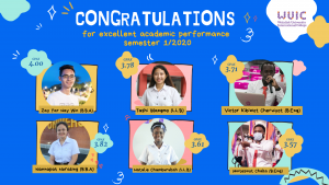 Congratulations for excellent academic performance 1/2020