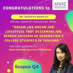 WUIC Congratulations to Dr. Suchita