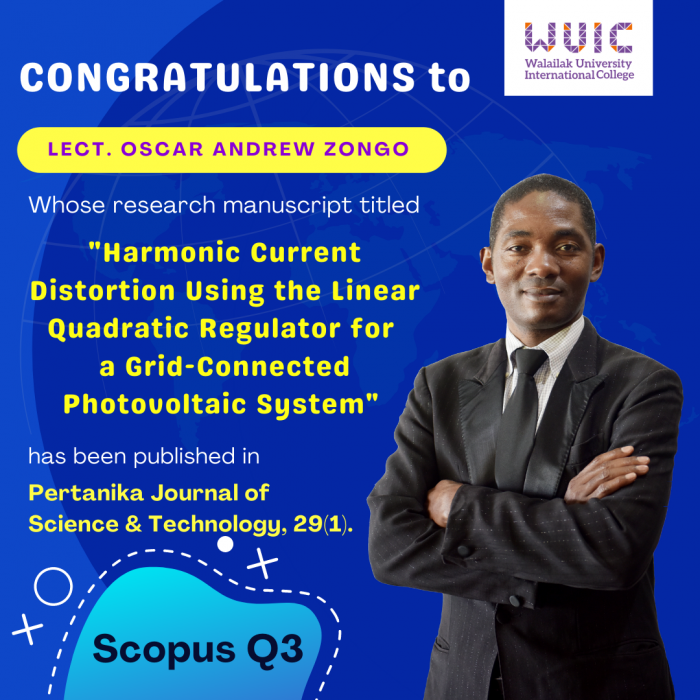 WUIC Congratulations to Dr. Oscar Andrew Zongo