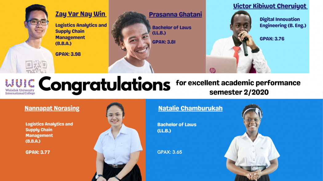 Congratulations for excellent academic performance 2/2020