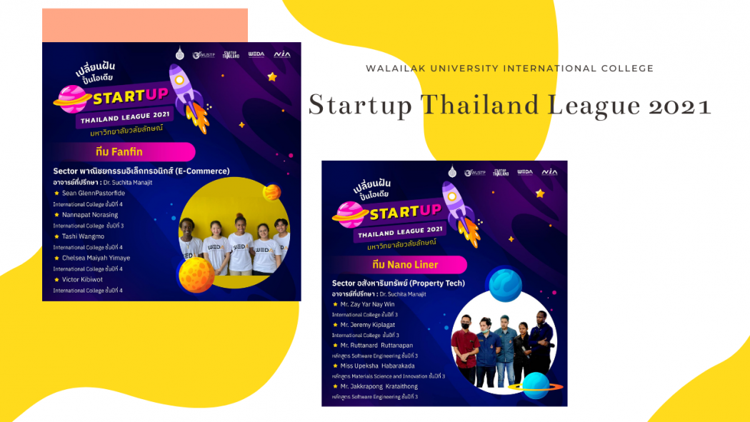 WUIC will represent Walailak University at Startup Thailand League 2021