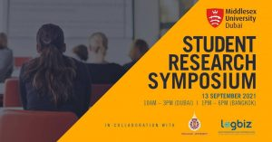 Walailak University and Middlesex University Dubai Joint Student Research Symposium