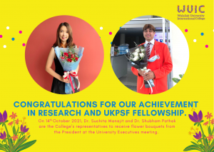 Congratulations for our achievement in Research and UKPSF fellowship.